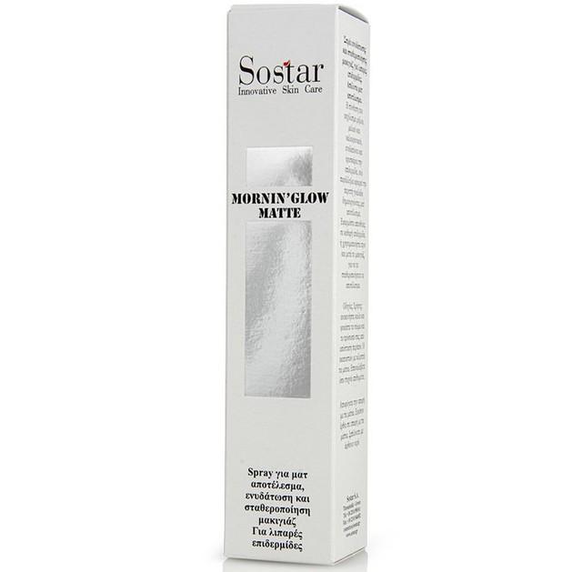 Sostar Mornin\' Glow Matte Σπρέι Ενυδάτωσης και Σταθεροποίησης Μακιγιάζ για Λιπαρές Επιδερμίδες 125ml
