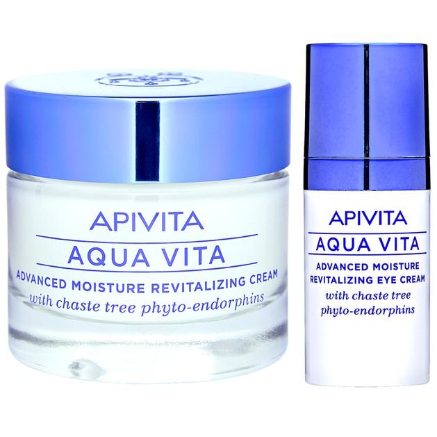 Apivita Πακέτο Προσφοράς Aqua Vita Κρέμα για Λιπαρές-Μικτές Επιδερμίδες 50ml & Δώρο Aqua Vita Κρέμα Ματιών 15ml