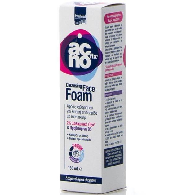 Acnofix Cleansing Face Foam Αφρός Καθαρισμού για Λιπαρή Επιδερμίδα με Τάση Ακμής 150ml