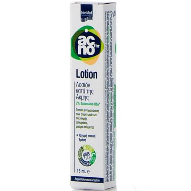 Acnofix Anti Acne Lotion Λοσιόν Τοπικής Αντιμετώπισης των Συμπτωμάτων της Ακμής (Σπυράκια, Μαύρα Στίγματα) 15ml