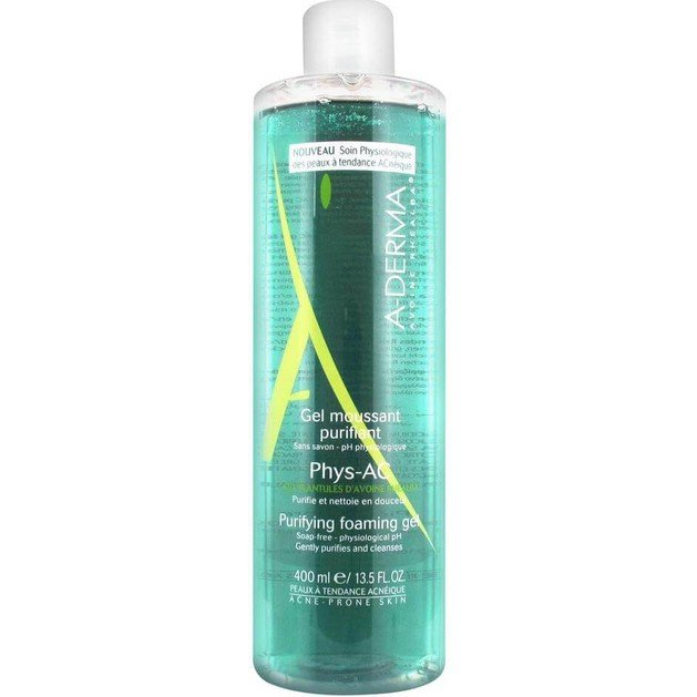 Phys-AC Gel Moussant Purifiant 400ml - A-derma