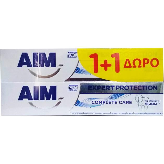 Aim Πακέτο Προσφοράς Expert Protection Complete Care Οδοντόκρεμα με 8 Δράσεις 2 x75ml 1+1 Δώρο
