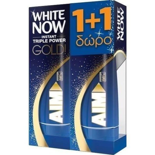 Aim Οδοντόκρεμα White Now Gold 2 x 50ml Πακέτο 1+1