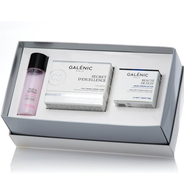 Galenic Gift Set Secret d\' Excellence La Creme 50ml & Δώρο Beaute de Nuit 15ml & Aqua Infini Lotion