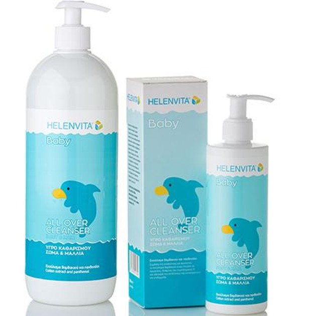 Helenvita Bady All Over Cleanser Εξαιρετικά Ήπιο, Καθαρίζει Απαλά το Δερματάκι & τα Μαλλιά του Μωρού 1L