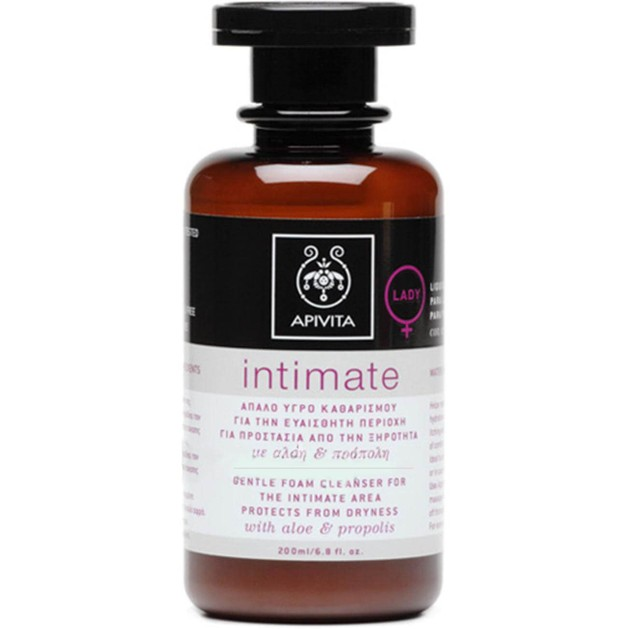 Intimate Care Lady Gentle Foam Cleanser 200ml - Apivita