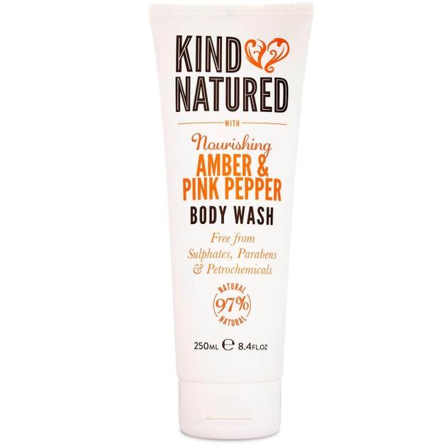 Kind Natured Nourishing Body Wash Amber & Pink Pepper Αφρόλουτρομε Κεχριμπάρι & Ροζ Πιπέρι 250ml