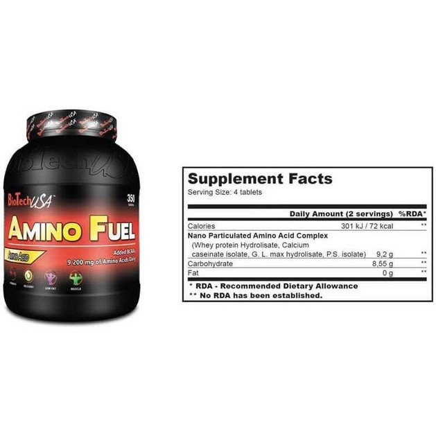 Biotech Usa Amino Fuel Θεμέλια Για Μυϊκή Ανάπτυξη Και Αποθεραπεία 350tabs