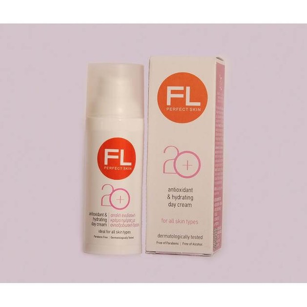 FL Products Antioxidant & Hydrating 20+ Απαλη Ενυδατική Κρέμα Ημέρας Με Αντιοξειδωτική Δράση 50ml