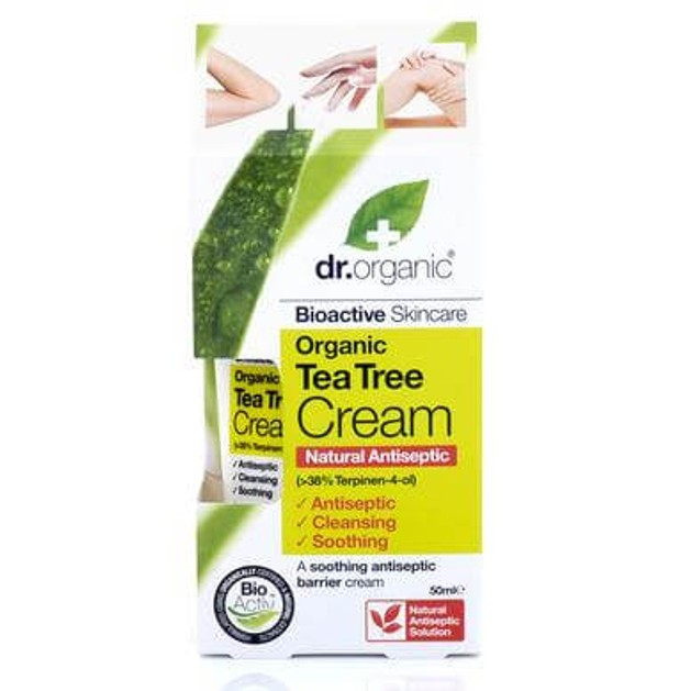 Dr Organic Organic Tea Tree Cream (Antiseptic ) Αντισηπτική Κρέμα με Βιολογικό Τεϊόδεντρο 50ml