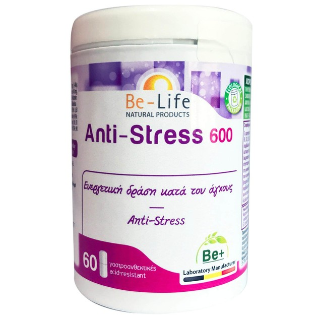 Be-Life Anti-Stress 600 Συμπλήρωμα Διατροφής με Ευεργετική Δράση Κατά  του Άγχους 60 caps