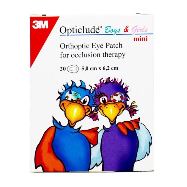 3M Opticlude Mini Boys & Girls Eye Patch Οφθαλμικός Ορθοπτικός Επίδεσμος 5.0cm x 6.2cm 20τμχ