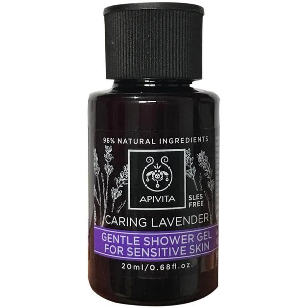 Δώρο Mini Sizer Apivita Caring Lavender Shower Gel Χαλαρωτικό Αφρόλουτρο με Βιολογικό Αιθέριο Έλαιο Λεβάντας 20ml