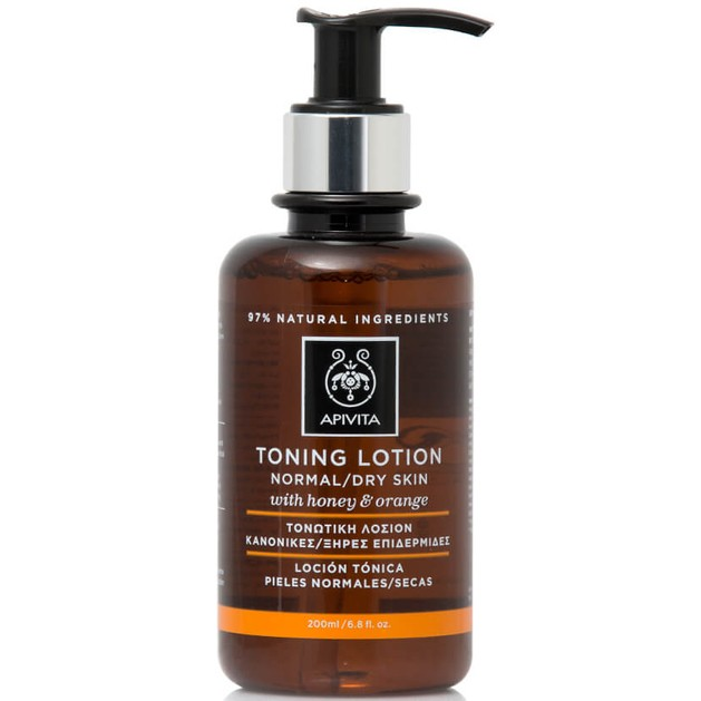 Apivita Cleansing Toning Lotion With Honey & Orange Normal/Dry Skin 200ml