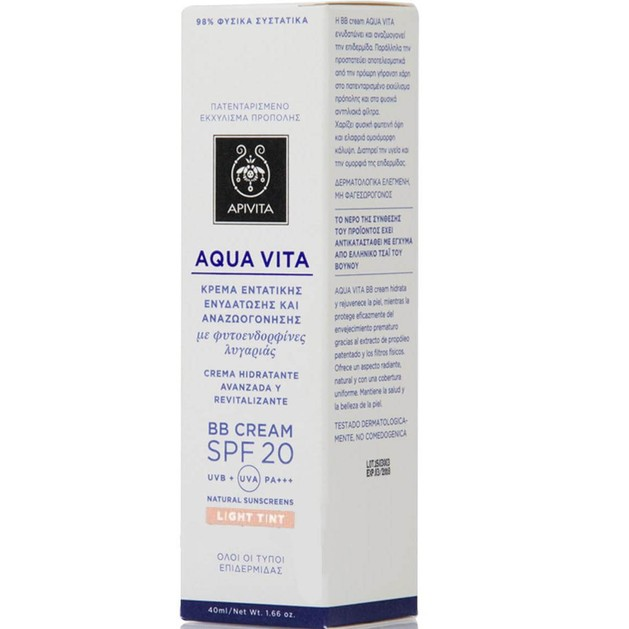 Apivita Aqua Vita BB Cream Light Spf20 40ml