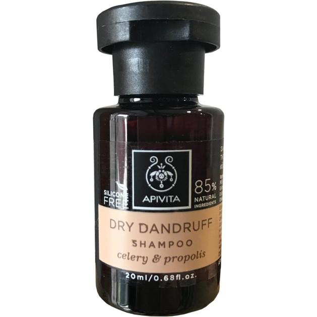 Δώρο Mini Sizer Apivita Dry Dandruff Σαμπουάν Κατά της Ξηροδερμίας με Σέλερι & Πρόπολη 20ml