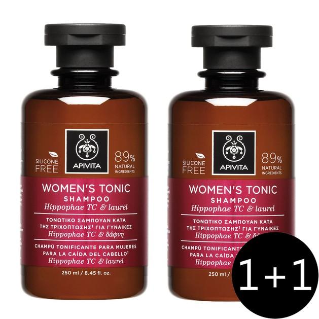 Apivita Πακέτο Προσφοράς Women\'s Tonic Shampoo With Hippophae Tc & Laurel Τονωτικό Σαμπουάν για Γυναίκες 2x250ml 1+1 Δώρο
