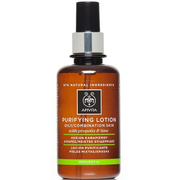 Apivita Purifying Lotion For Oily/Combination Skin With Propolis & Lime 200ml