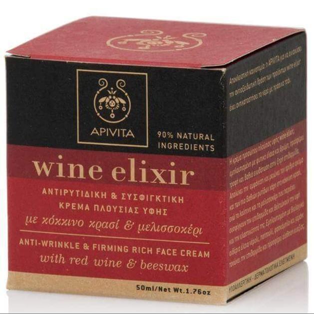 Apivita Wine Elixir Anti-Wrinkle & Firming Rich Day Cream 50ml Promo -20%