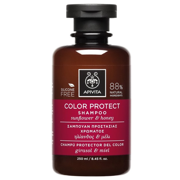 Color Protect Shampoo With Sunflower & Honey 250ml - Apivita