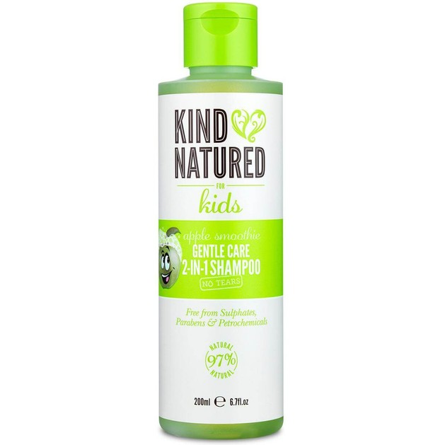 Kind Natured Apple Smoothie Gentle Care 2-In-1 Shampoo No Tears Παιδικό Σαμπουάν με Άρωμα Μήλου που Ξεμπερδεύει τα Μαλλιά 200ml