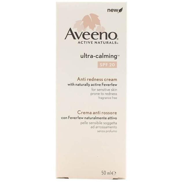 Aveeno Ultra-Calming Spf20 Anti Redness Cream Καταπραϋντική Κρέμα Προσώπου για την Ευαίσθητη Επιδερμίδα με Τάση Ερυθήματος 50ml