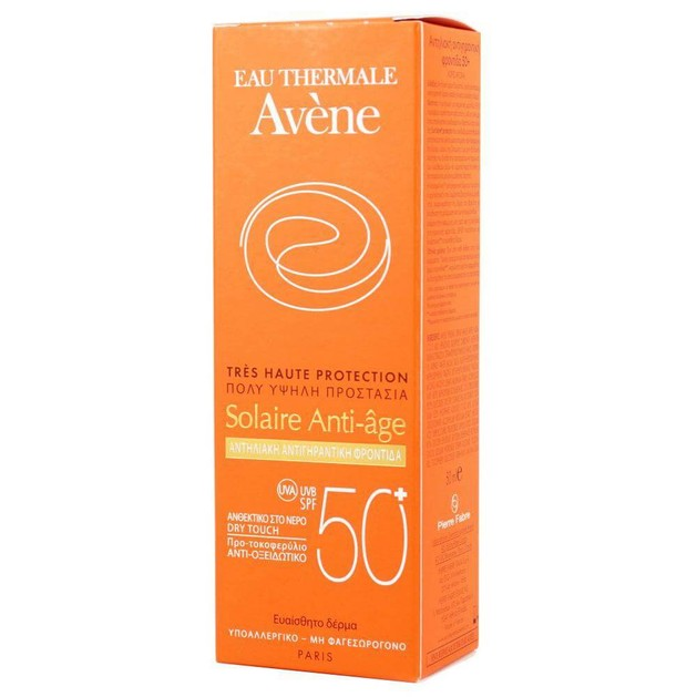 Avene Very High Protection Solaire Anti-age Spf50+ Αντηλιακή Κρέμα Προσώπου Πολύ Υψηλής Προστασίας με Αντιγηραντική Δράση 50ml