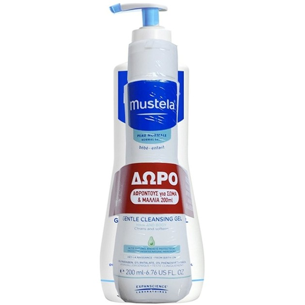 Mustela Gentle Cleansing Gel Καθαρισμού για Μαλλιά & Σώμα 500ml & Δώρο Mustela Bebe 2 in 1 Cleansing Gel 200ml