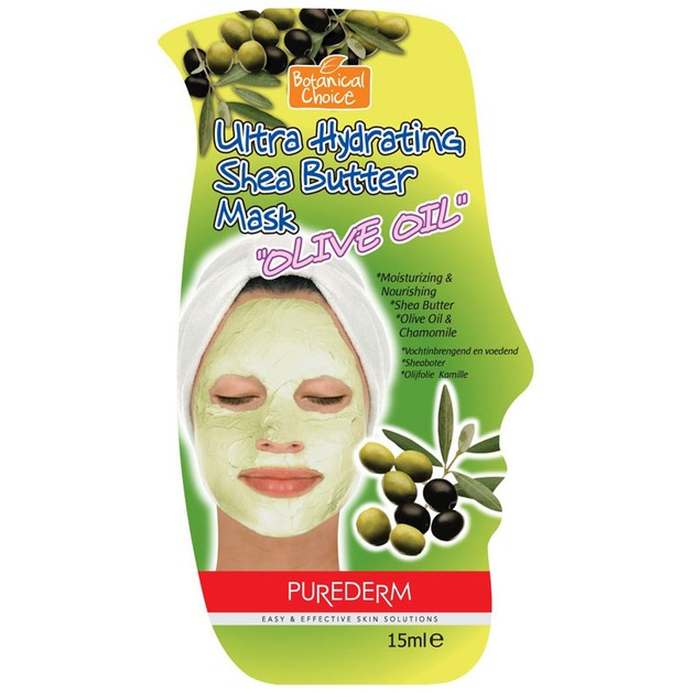 Purederm Ultra Hydrating Shea Butter Mask Olive Oil Άμεση Ενυδάτωση 15g