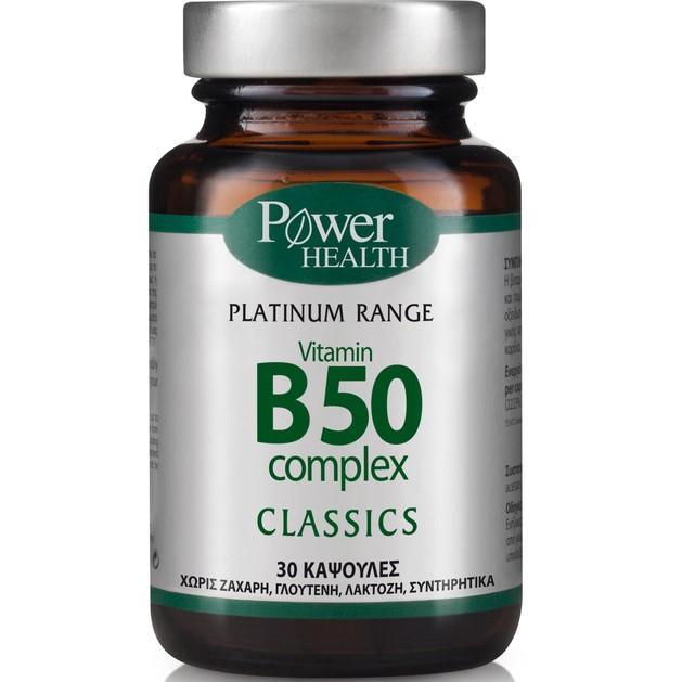 Power Health Platinum Vitamin B50 Complex 30caps