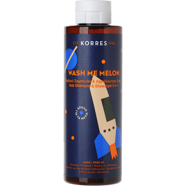 Korres Wash Me Melon Boys Shampoo & Showergel 250ml