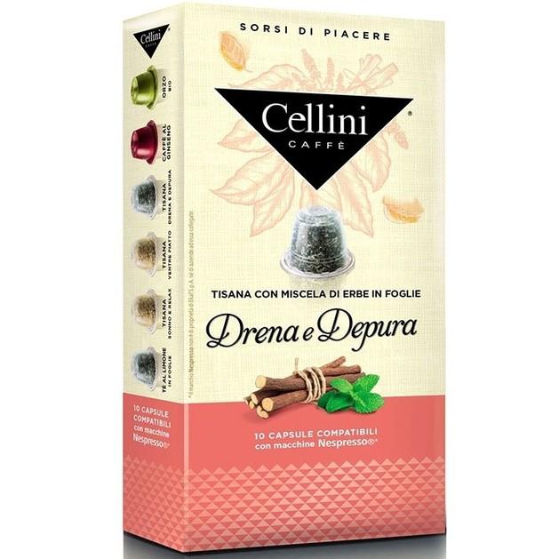 Cellini Caffe  Αφέψημα Drena e Depura Συμβατές με Συσκευή Nespresso 10caps