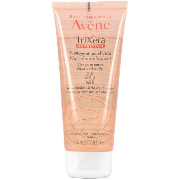 Avene Trixera Nutrition Gel Nettoyant Nutri-Fluide ΛεπτόρρευστοΚαθαριστικό Προσώπου & Σώματος για Ευαίσθητο - Ξηρό Δέρμα 100ml