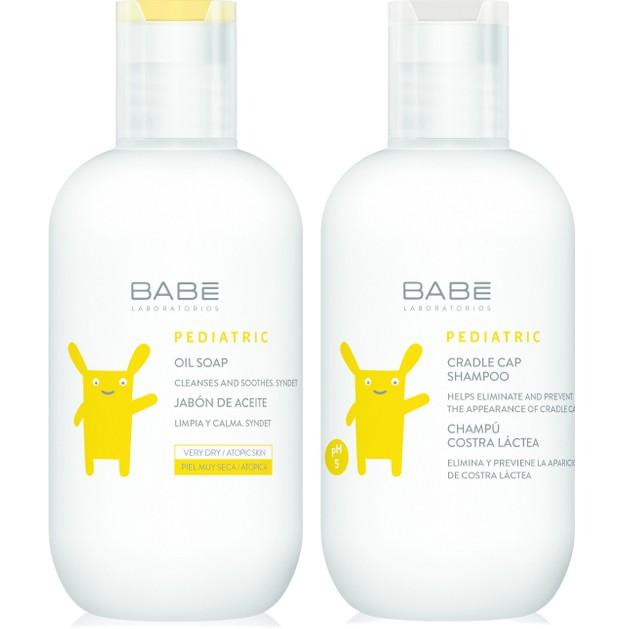 Babe Πακέτο Προσφοράς Babe Pediatric Oil Soap 200ml & Δώρο Babe Pediatric Crandle Cap Shampoo 200ml