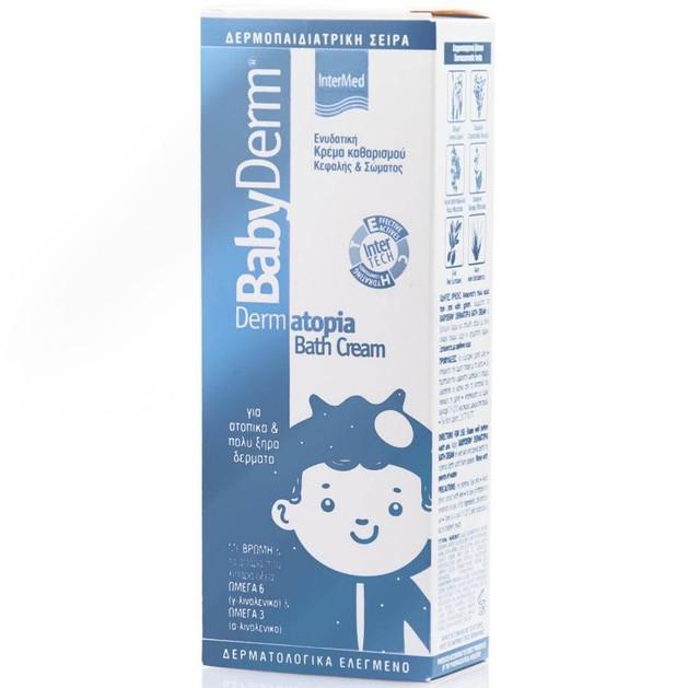 Babyderm Dermatopia Bath Cream Ενυδατική Κρέμα Καθαρισμού Κεφαλής & Σώματος για Ατοπικά & Πολύ Ξηρά Δέρματα 300ml