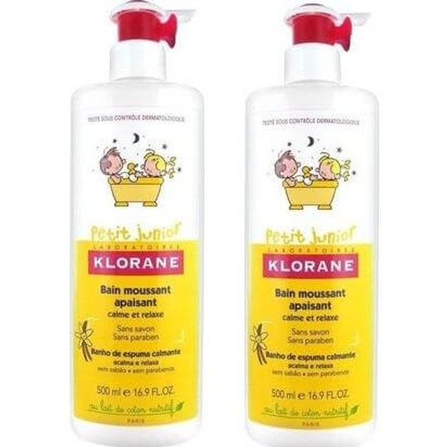 Klorane Πακέτο Προσφοράς Petit Junior Bain Moussant Apaisant 2x500ml