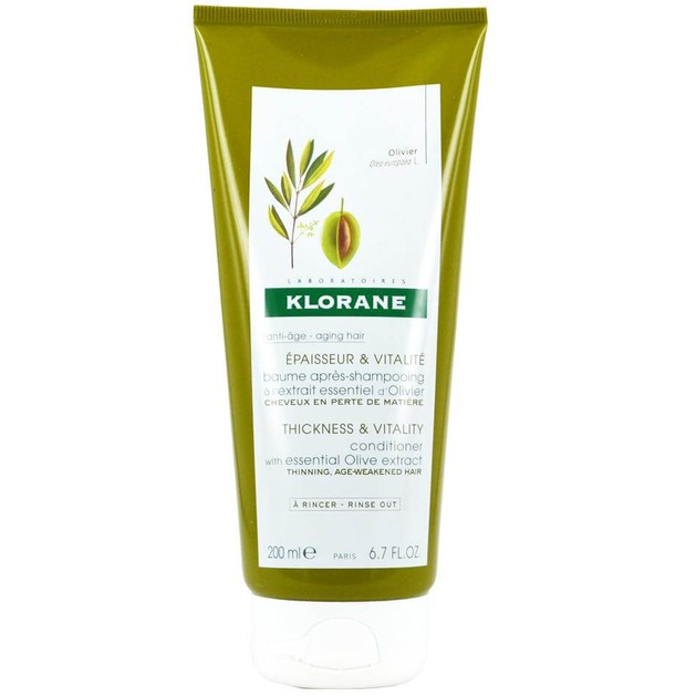 Klorane Apaisseure & Vitalite Baume Apres Shampooing Olive Extract 200ml