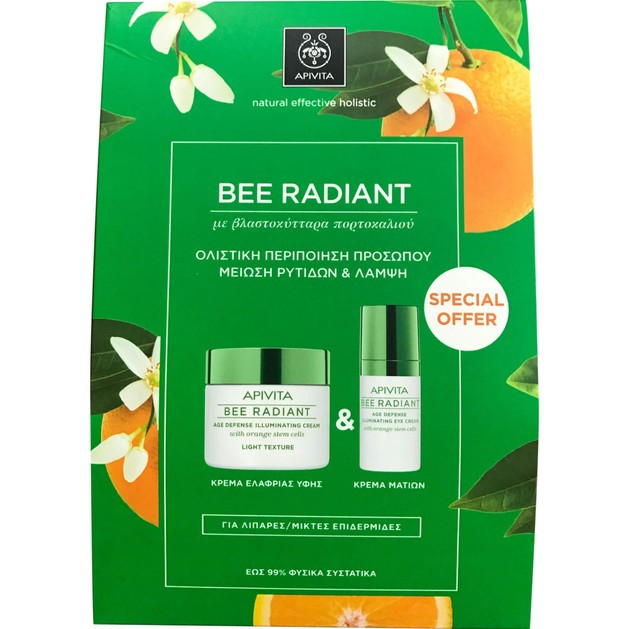 Apivita Πακέτο Προσφοράς Bee Radiant Age Illuminating Day Light Cream 50ml & Δώρο Eye Cream 15ml