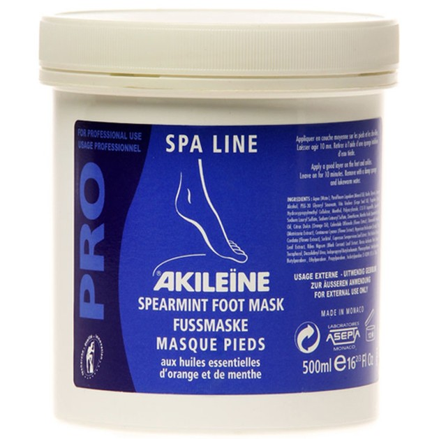 Vican Akileine Spearmint Foot Mask for Very Dry Feet 500ml