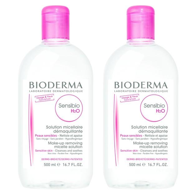 Bioderma Πακέτο Προσφοράς Sensibio H20 Μικυλλιακό Νερό Καθαρισμού & Ντεμακιγιάζ Προσώπου Ματιών 2x500ml 1+1 Δώρο