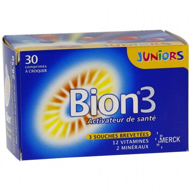 Bion 3 Junior Συμπλήρωμα Διατροφής Για Παιδιά Άνω Των 4 Ετών 30 μασώμενα δισκία