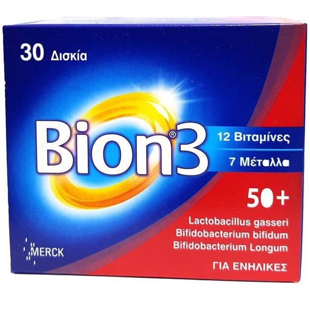 Bion 3 50+ Συμπλήρωμα Διατροφής 30tabs