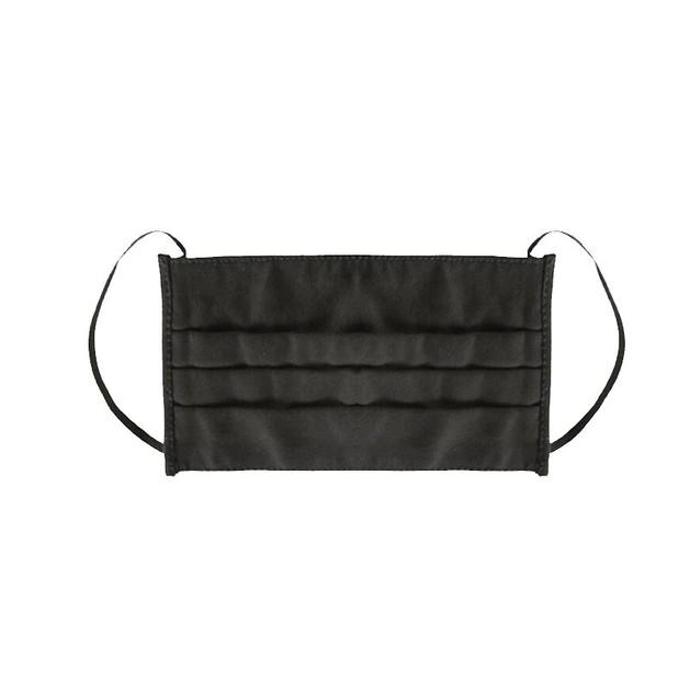 Υφασμάτινη Μάσκα Πολλαπλών Χρήσεων Μαύρη Βαμβακερή με Διπλό Πανί & Ρινικό Έλασμα 1 Τεμάχιο