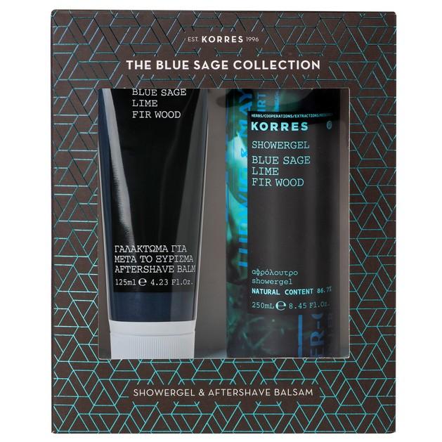 Korres Πακέτο Προσφοράς Blue Sage, Lime, Fir Wood Showergel 250ml & After Shave Balsam 125ml σε Ειδική Τιμή