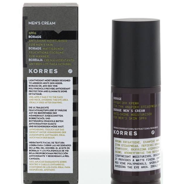 Borage Men\'s Cream Spf6 50ml - Korres
