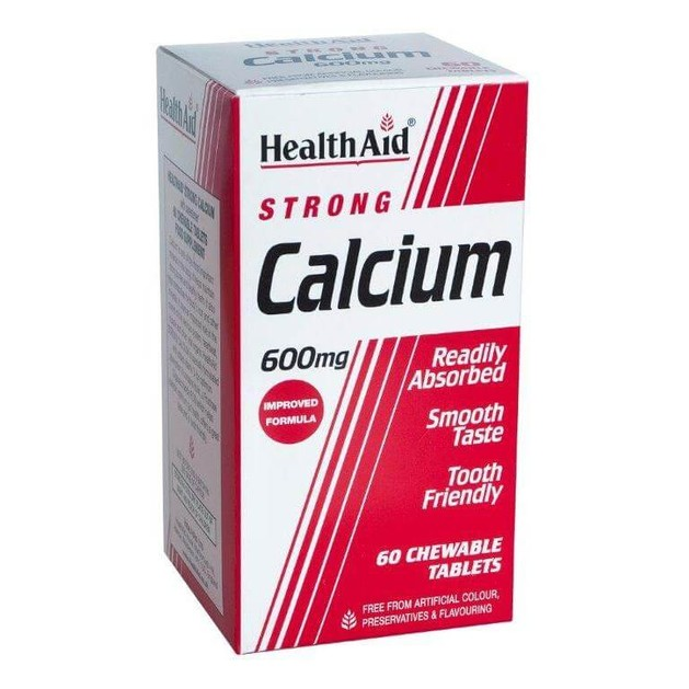 Health Aid Calcium Strong 600mg 60chew.tabs