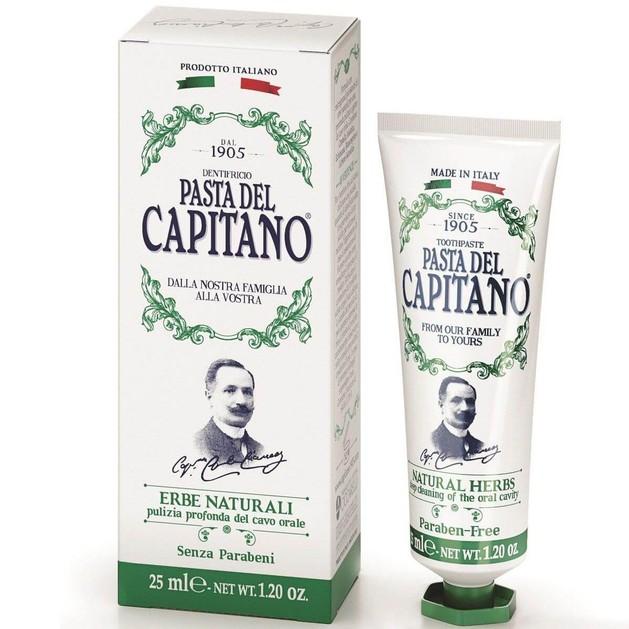 Pasta Del Capitano Natural Herbs Οδοντόκρεμα με Καταπραϋντικές Ιδιότητες, Καταπολεμά Τους Ερεθισμούς 25ml