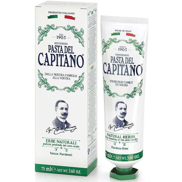 Δώρο Pasta Del Capitano Natural Herbs Toothpaste Οδοντόκρεμα με Καταπραϋντικές Ιδιότητες, Καταπολεμά Τους Ερεθισμούς 75ml