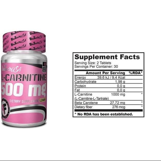 Biotech Usa L-Carnitine 500mg 60tabs