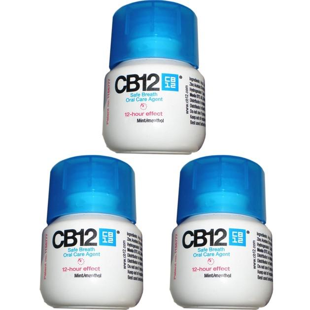 Δώρο CB12 Στοματικό Διάλυμα για Ασφαλή Αναπνοή με Ευχάριστη Γεύση Μέντα 3x10ml